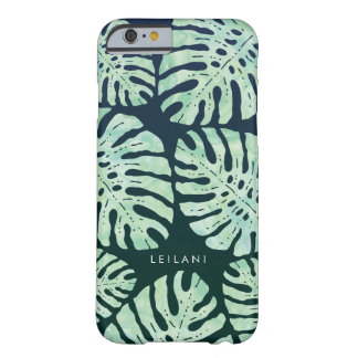 Tropical Glamour | Green Watercolor Jungle Leaves Barely There iPhone 6 Case