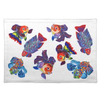 Tropical&Goldfish placemat Cloth Placemat
