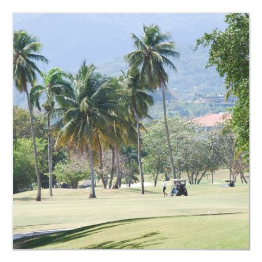 Tropical Golf Course Invitations