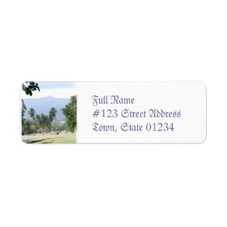 Tropical Golf Course Mailing Labels