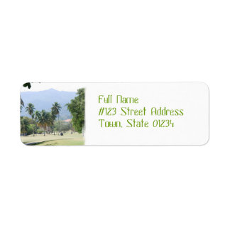 Tropical Golf Course Return Address Mailing Labels