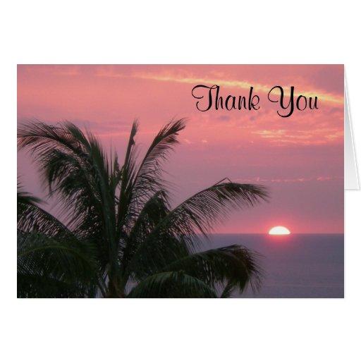 Tropical gracias Notecard Felicitacion