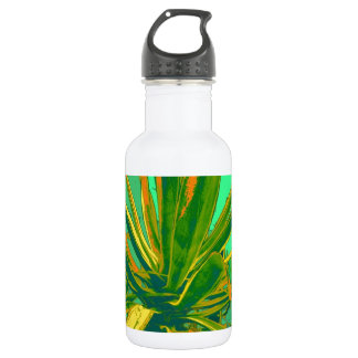 Tropical Green Agave by Sharles 18oz Water Bottle