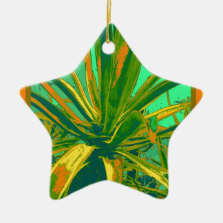 Tropical Green Agave Gifts by Sharles Ceramic Ornament