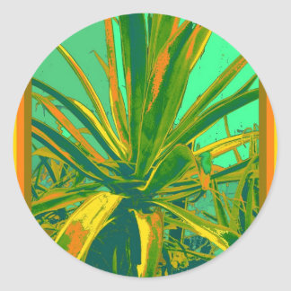 Tropical Green Agave Gifts by Sharles Classic Round Sticker
