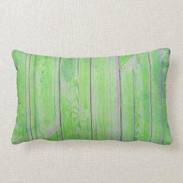Beach Themed Tropical Green Bamboo Metallic Wood Cottage Home Lumbar Pillow