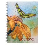 Tropical Green Butterfly Watercolor Journal