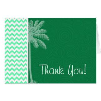 Tropical Green Chevron Card