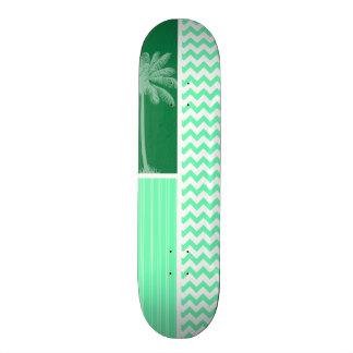 Tropical Green Chevron Skate Deck