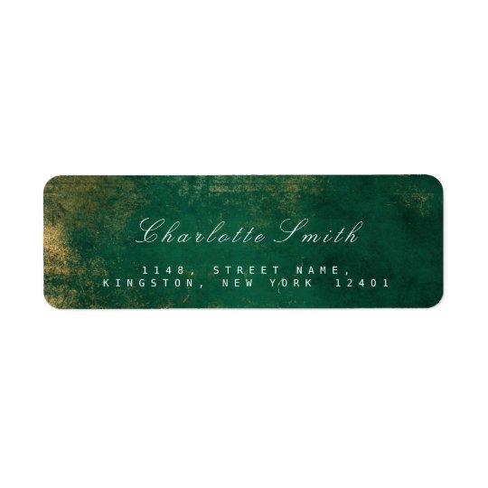 tropical green gold return address labels zazzle com