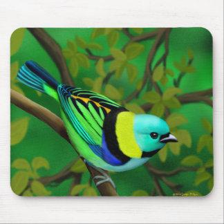 Tropical Green Headed Tanager Bird Mousepad