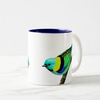 Tropical Green Headed Tanager Bird Mug