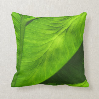 Tropical Green Leaf Decor Pillow