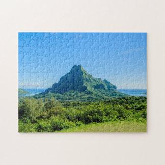 Tropical green Moorea jigsaw puzzle