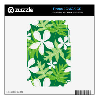 Tropical Green White Decal For The iPhone 3