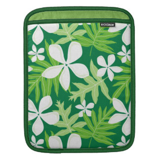 Tropical Green White (v) Sleeve For iPads