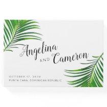 Tropical Greenery Palm Beach Destination Wedding Guest Book