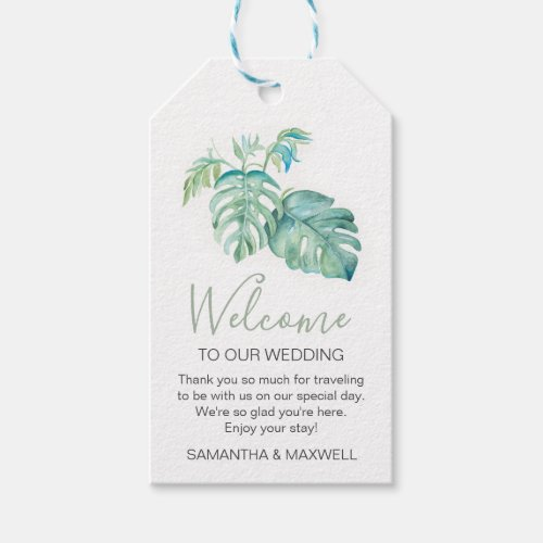 Tropical Greenery Welcome Gift Tags