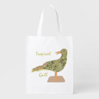 Tropical Gull Grocery Bag