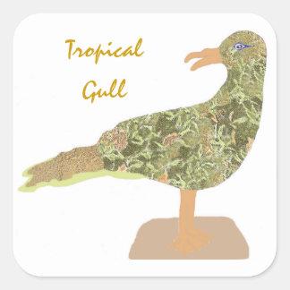 Tropical Gull Square Sticker