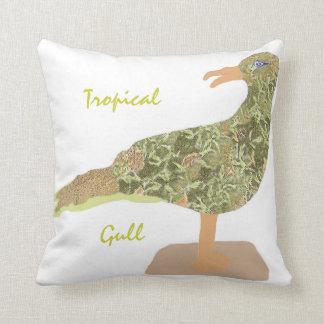 Tropical Gull Throw Pillow