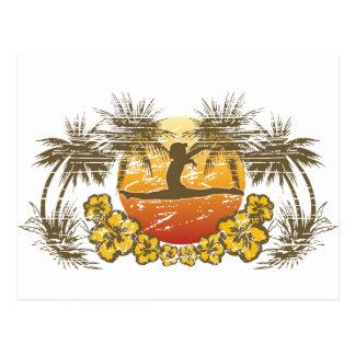 Tropical Gymnastics and Dance Gifts Postcard