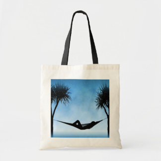 Tropical Hammock Blue Sky Silhouette Design Bags