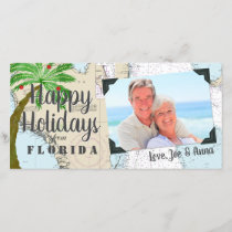 Tropical Happy Holidays from Florida Nautical Holiday Card