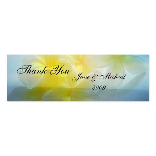 Tropical Haven Wedding Double-Sided Mini Business Cards (Pack Of 20)