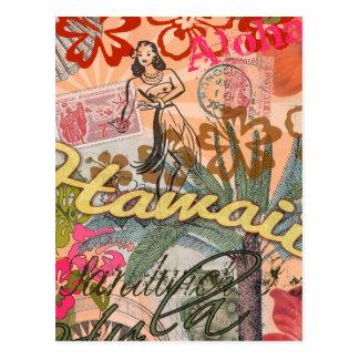 Tropical hawaiano colorido del viaje de Hawaii del Tarjetas Postales