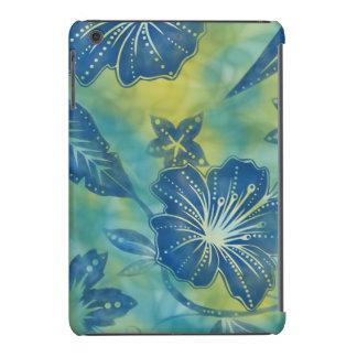 Tropical hawaiano del batik de la flor de Bali Fundas De iPad Mini Retina