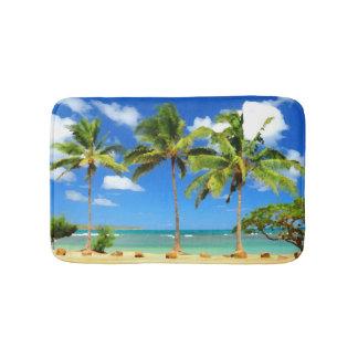 Tropical Hawaii Summer Beach Palm Trees Bath Mats