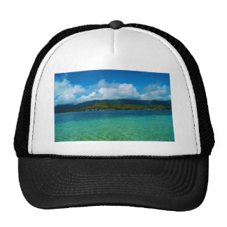Tropical Hawaii Water and mountains Trucker Hat