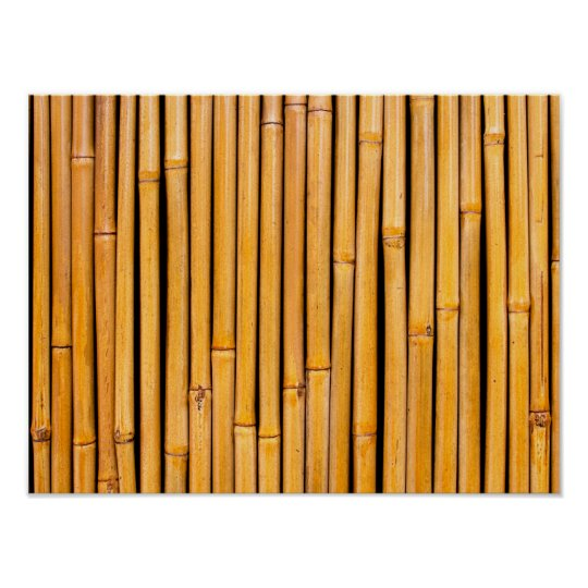 Tropical Hawaiian Bamboo Background Template Poster