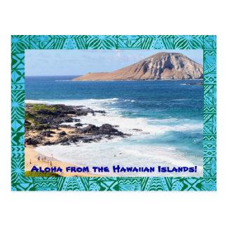 Tropical Hawaiian Beach Postcard