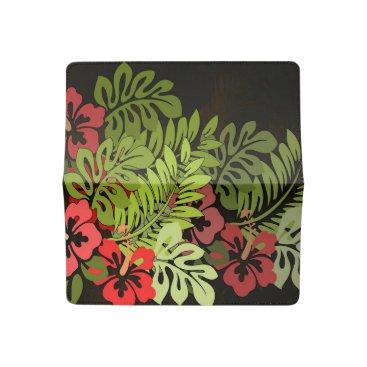 Beach Themed Tropical Hawaiian Floral Chic Art Checkbook Cover