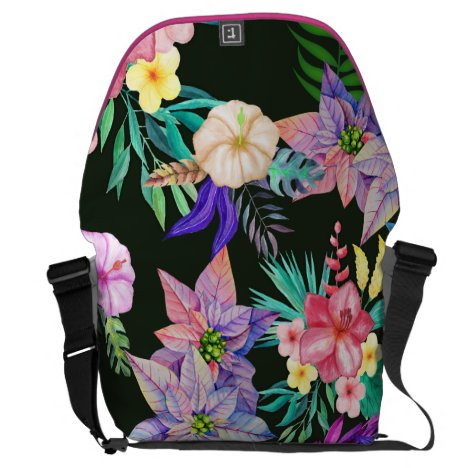 Tropical Hawaiian Flowers Courier Bag