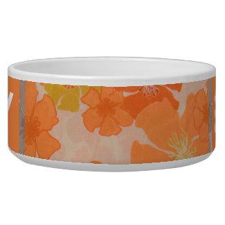 Tropical Hawaiian Flowers Diva Lucky Doggie Bowl