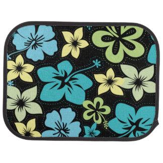 Tropical Hawaiian Hibiscus / black Car Floor Mat