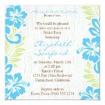 """Tropical Hawaiian Invitation Turquoise 5.25"""" Square Invitation Card"""