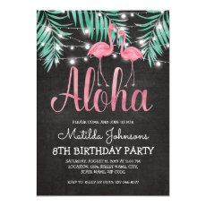 Tropical Hawaiian Luau Beach Birthday Party Invitation