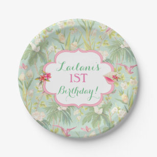 Tropical Hawaiian Luau Hibiscus Flowers Paper Plate  sc 1 st  Zazzle & Hawaiian Baby Shower Plates | Zazzle