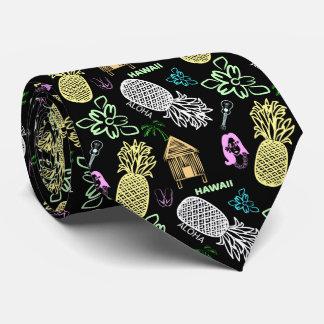Tropical Hawaiian Luau Pattern Tie