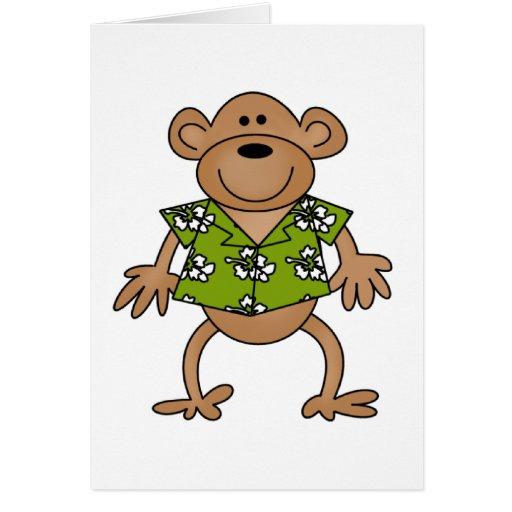 Tropical Hawaiian Monkey Card