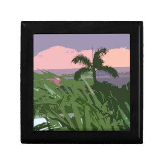 Tropical Hawaiian Palm and Seascape Gift Box