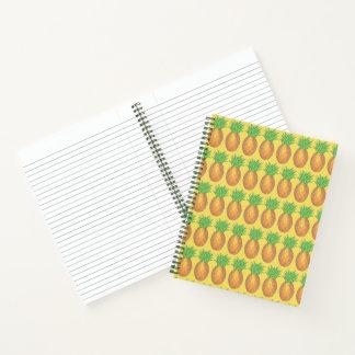 Tropical Hawaiian Pineapple Fruit Island Yellow Notebook