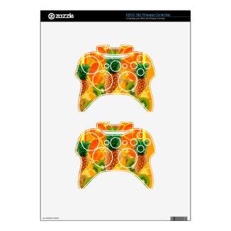 tropical  HAWAIIAN PINEAPPLE & ORANGE SLICES KIWI Xbox 360 Controller Skin