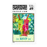 TROPICAL HAWAIIAN RSVP 2 POSTAGE STAMP