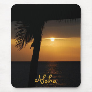 Tropical Hawaiian Sunset Mouse Pad