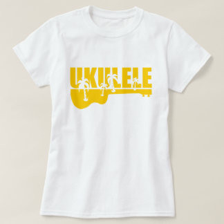 Tropical Hawaiian Uke Ukulele Design T-Shirt
